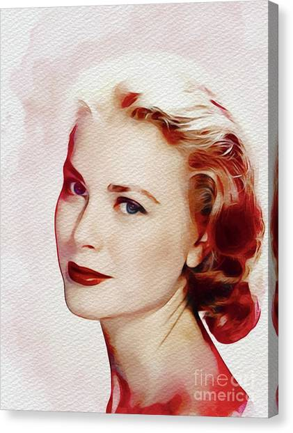 Grace Kelly Canvas Print - Grace Kelly, Hollywood Legend by John Springfield