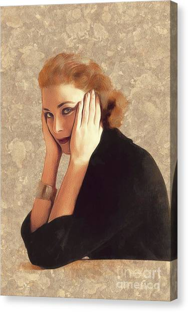 Grace Kelly Canvas Print - Grace Kelly, Hollywood Legend by Mary Bassett