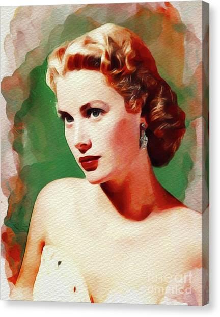 Grace Kelly Canvas Print - Grace Kelly, Movie Star by John Springfield
