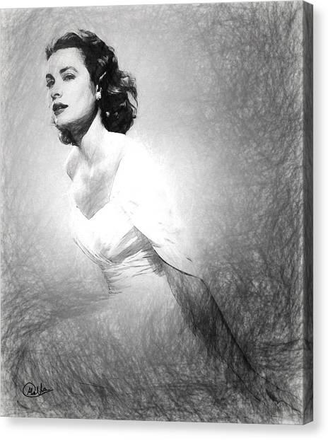 Grace Kelly Canvas Print - Grace Kelly Sketch by Quim Abella