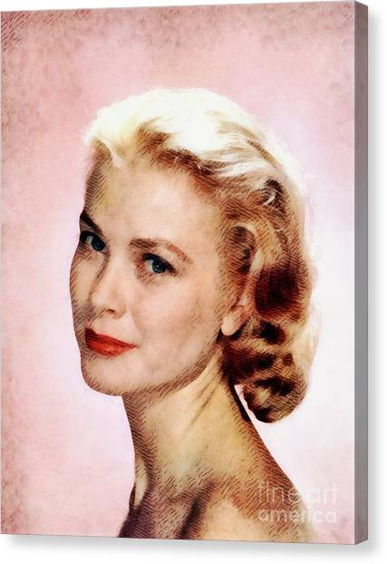 Grace Kelly Canvas Print - Grace Kelly, Vintage Actress by John Springfield