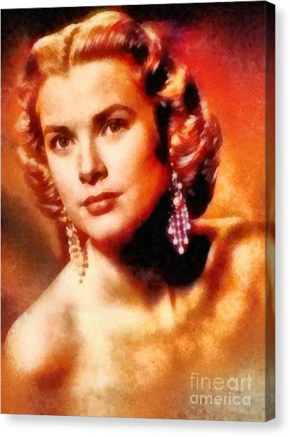 Grace Kelly Canvas Print - Grace Kelly, Vintage Hollywood Actress by Frank Falcon