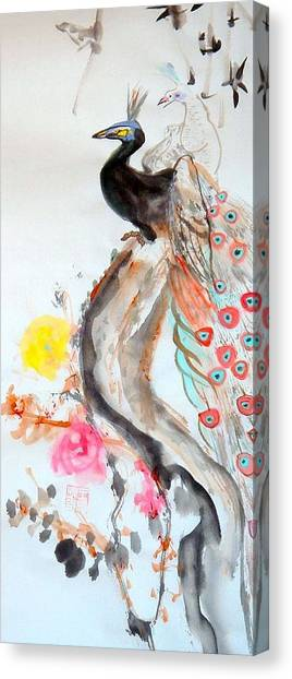 Graceful Couple Canvas Print by Janpen Sherwood