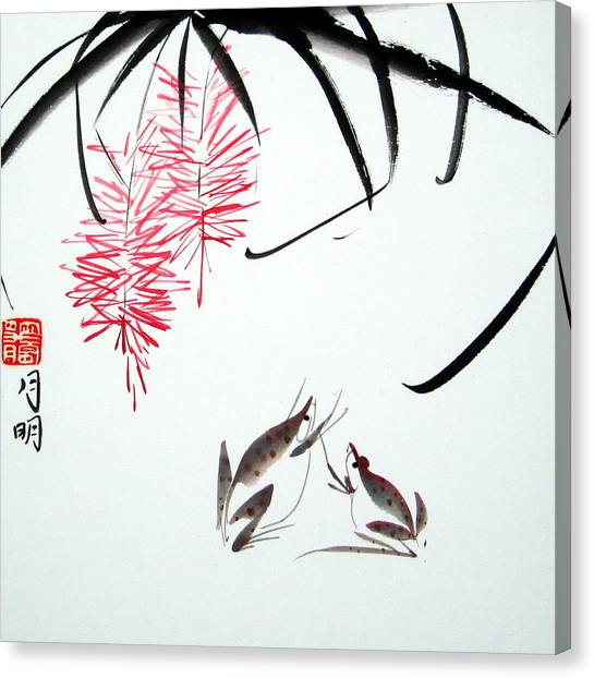 Graceful Frogs Canvas Print by Ming Yeung