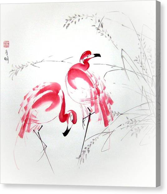 Graceful Pair Canvas Print by Ming Yeung