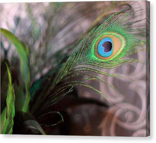 Graceful Peacock Feather Canvas Print