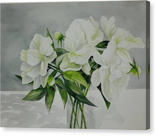 Graceful Peonies Canvas Print