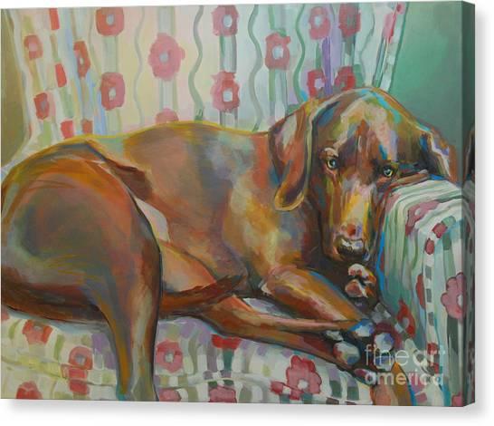 Lavendar Canvas Print - Grace's Throne by Kimberly Santini
