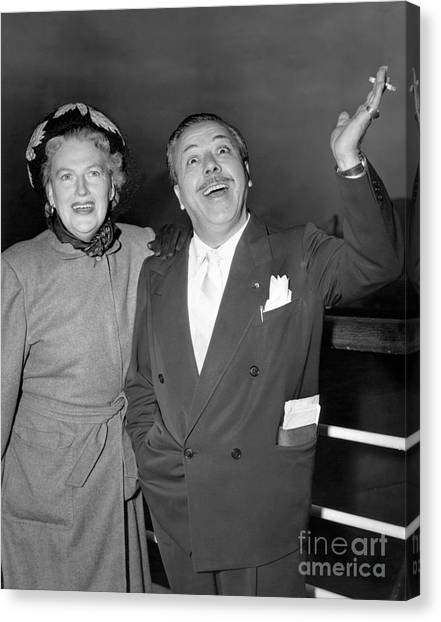 Gracie Fields And Husband, Monty Banks. Canvas Print by Barney Stein