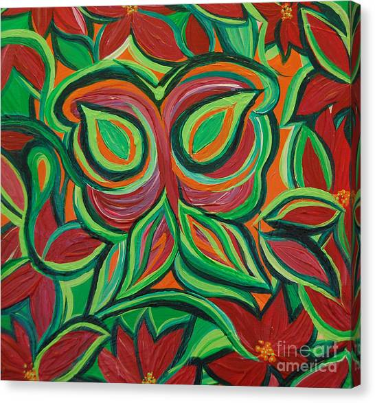 Red Camo Canvas Print - Garden Camouflage By Jrr by First Star Art