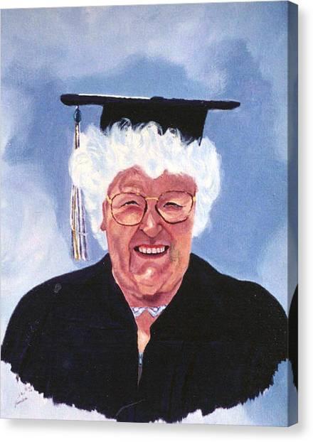 Graduation At 75 Canvas Print by Stan Hamilton