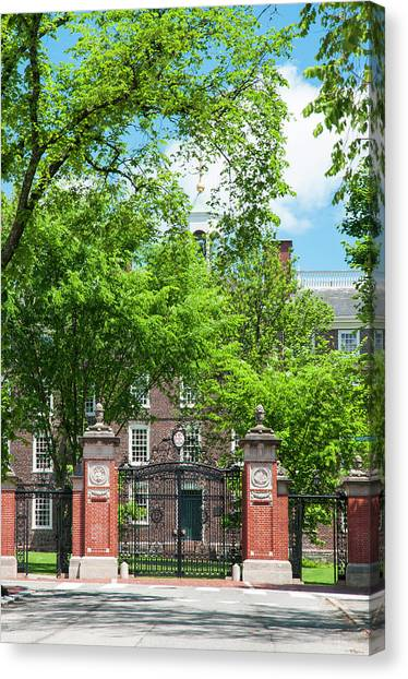 Brown University Canvas Print - Graduation Gate 1499 by Ginger Stein