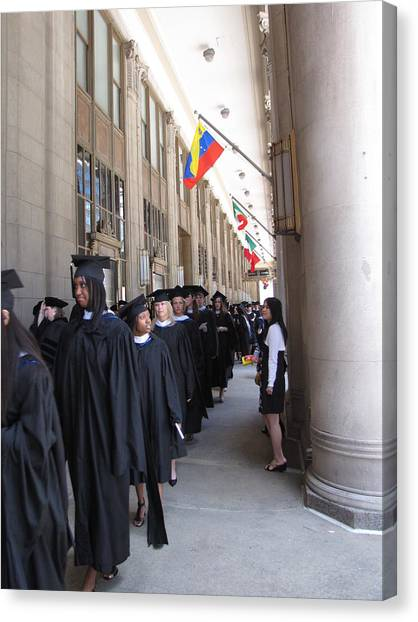 Graduation In Chi-town Canvas Print by Sylvia Wanty