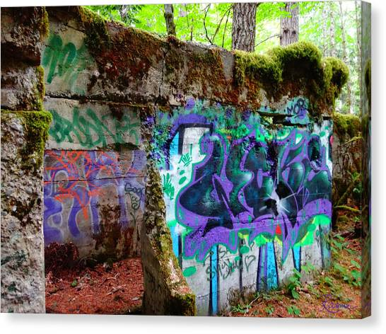 Graffiti Illusion Canvas Print
