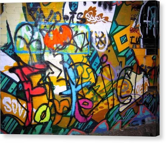 Graffiti In A Baltimore Alley Canvas Print