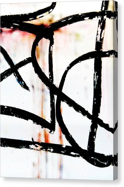 Graffiti On Glass Canvas Print