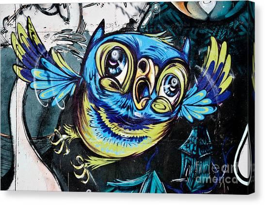 Graffiti Owl Canvas Print