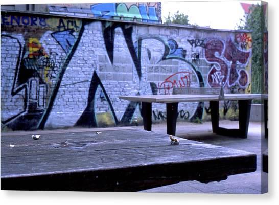 Graffiti Table Canvas Print