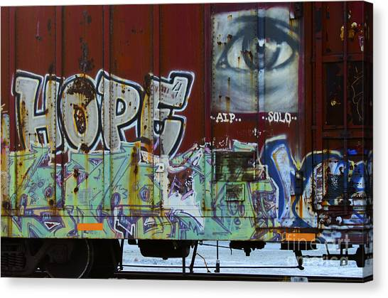 Grafitti Art Riding The Rails 6 Canvas Print
