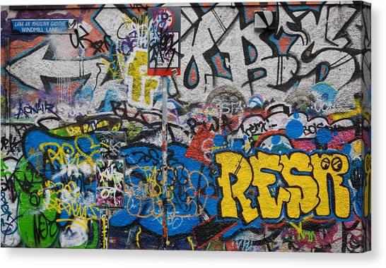 U2 Canvas Print - Grafitti On The U2 Wall, Windmill Lane by Panoramic Images