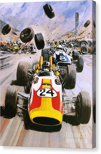 Racecar Drivers Canvas Print - Graham Hill by Graham Coton