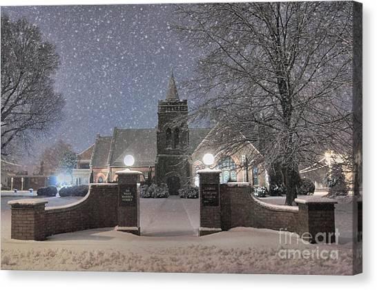 House Of Worship Canvas Print - Graham Presbyterian Church by Benanne Stiens