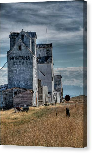 Grain Elevators, Wilsall Canvas Print