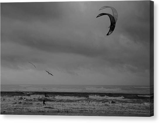Grainy Wind Surf Canvas Print