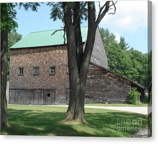 Grammie's Barn Through The Trees Canvas Print