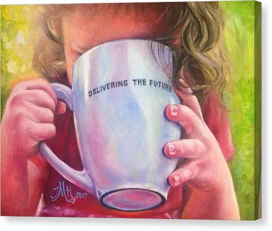 Half Life Canvas Print - Grammies Tea by Terri M Hanson