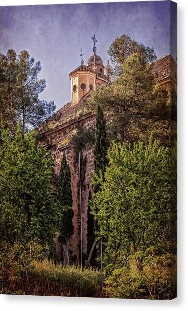 Romanesque Art Canvas Print - Granada Monastery by Joan Carroll