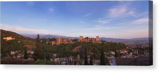 Spanish Fort Canvas Print - Granada Panorama by Joan Carroll