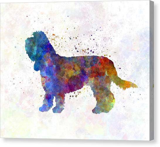 Griffon Canvas Print - Grand Basset Griffon Vendeen In Watercolor by Pablo Romero