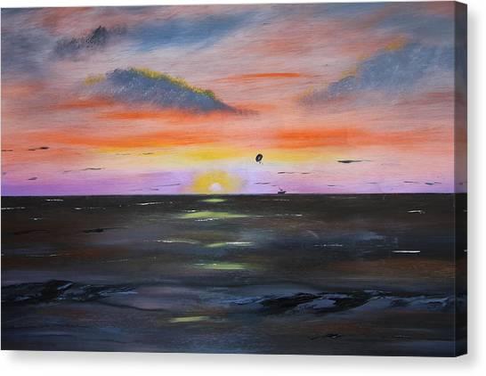 Grand Bend Para Sail  Canvas Print by Victor Alderson