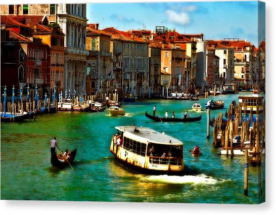 Grand Canal Daytime Canvas Print