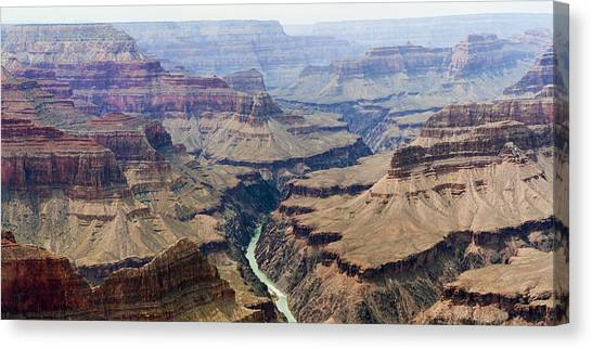 Grand Canyon And Colorado River 3 Of 5 Canvas Print
