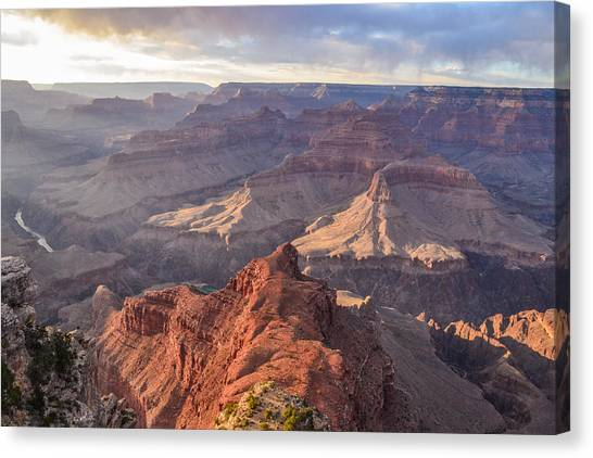 Grand Canyon Canvas Print - Grand Canyon At Sunset by Connor Goad