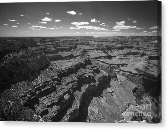 Grand Canyon Bw1 Canvas Print by Stan and Anne Foster