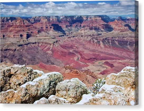 Grand Canyon In Arizona Canvas Print by Julia Hiebaum