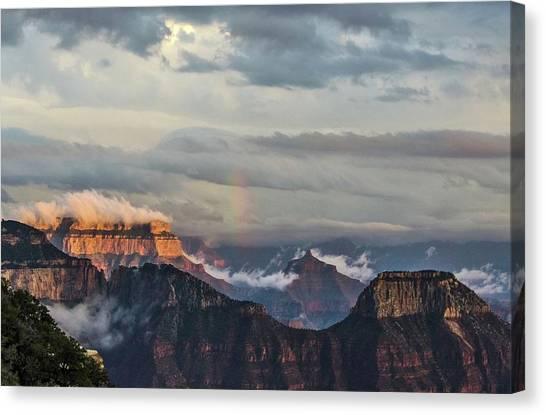 Grand Canyon Monsoon Rainbow Canvas Print