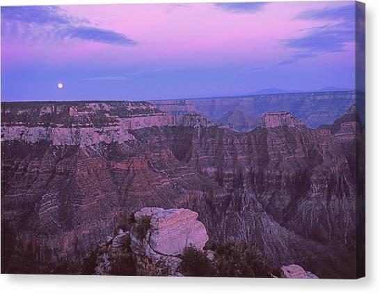 Grand Canyon Moon Canvas Print by Alan Lenk
