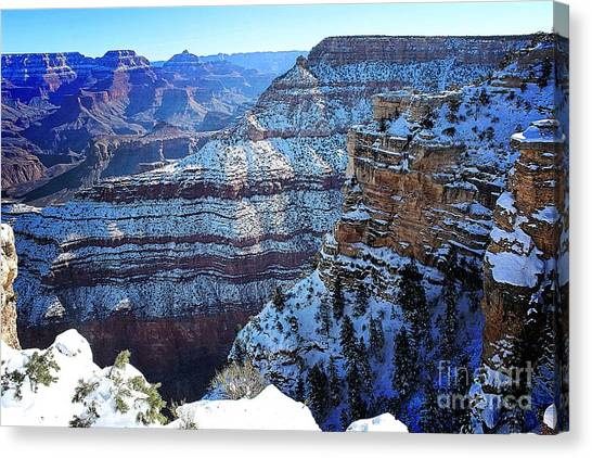 Grand Canyon National Park In Winter Canvas Print