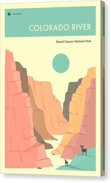 Grand Canyon Canvas Print - Grand Canyon National Park Poster by Jazzberry Blue