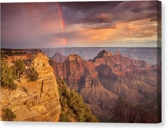 Grand Canyon North Rim Rainbow Canvas Print
