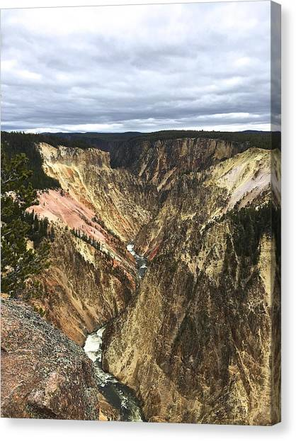 Yellowstone National Park Canvas Print - Grand Canyon Of Yellowstone by Amy Movsesian