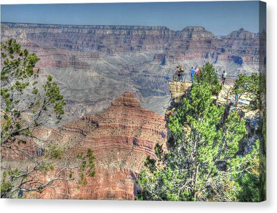 Canvas Print featuring the photograph Grand Canyon Overlook by David Armstrong
