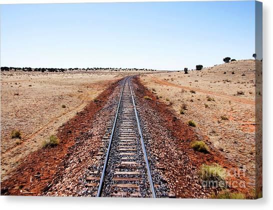 Thomas The Train Canvas Print - Grand Canyon Railway by Thomas R Fletcher