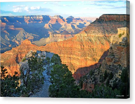 Grand Canyon South Rim At Sunset Canvas Print