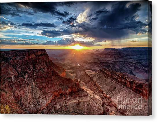 Grand Canyon Sunburst Canvas Print