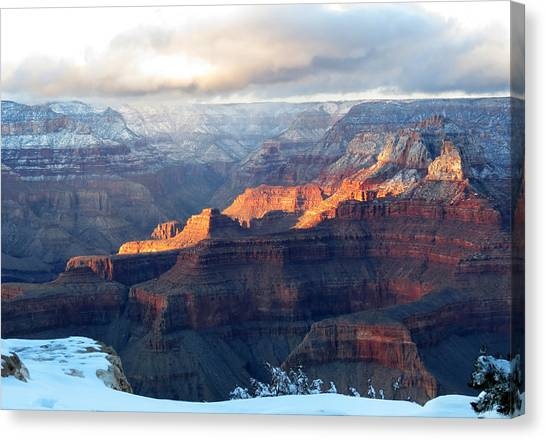 Grand Canyon With Snow Canvas Print